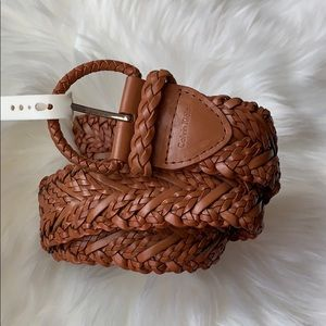 NWT $45 CK Braided Leather Belt Small